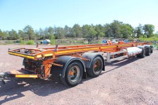 Härryda 4-Axligt lastväxlarvagn 4-Axlig Lastväxlarsläp gli