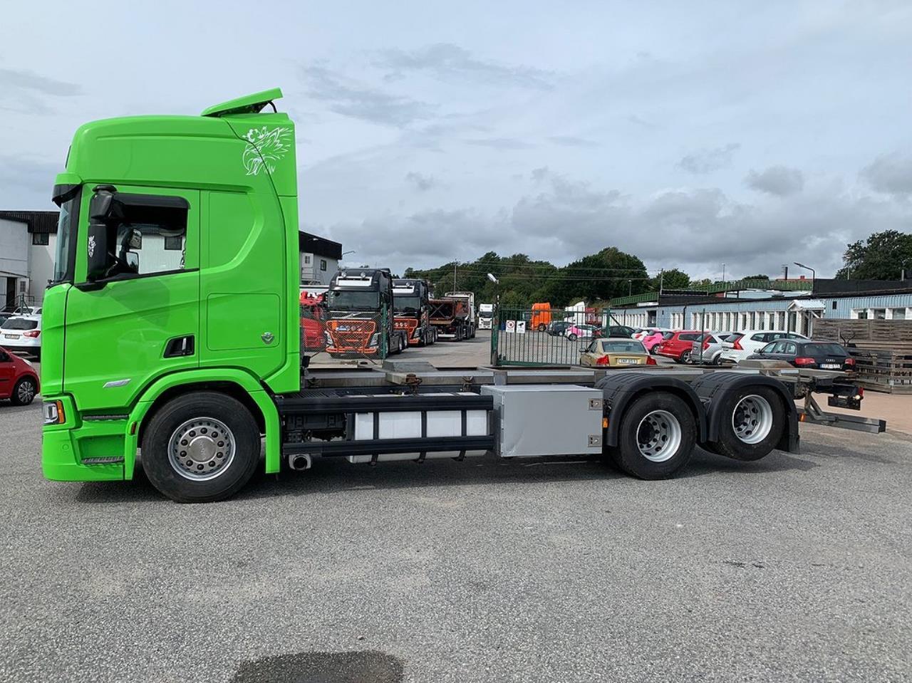 Scania R580 6x2 Containerbil / LAGAB  2018 - Växelflak