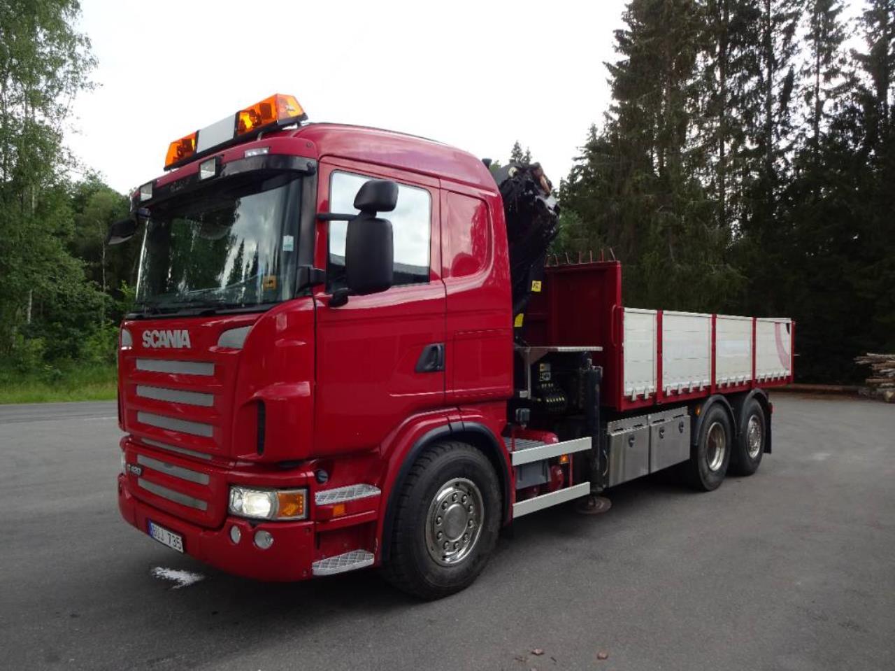 Scania Tipp & kranbil G420lb6x2*4hna 2010 - Kran